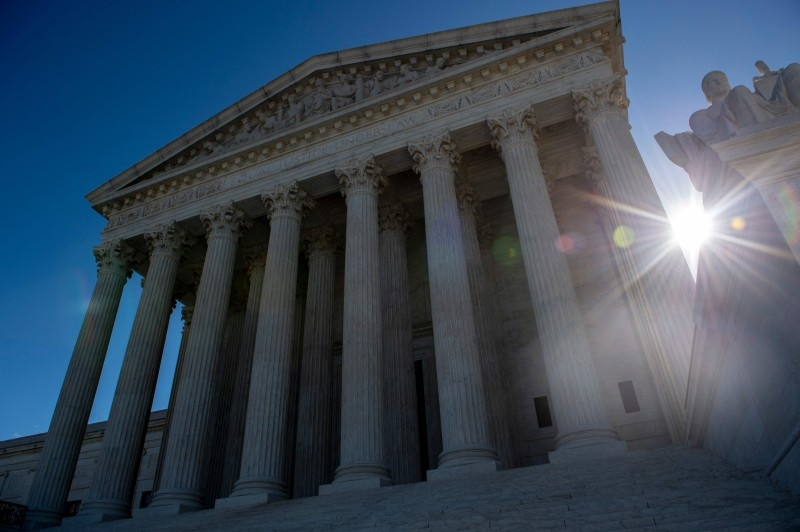 In this file photo taken on April 15, 2019 the United states Supreme Court is seen in Washington DC. -AFP