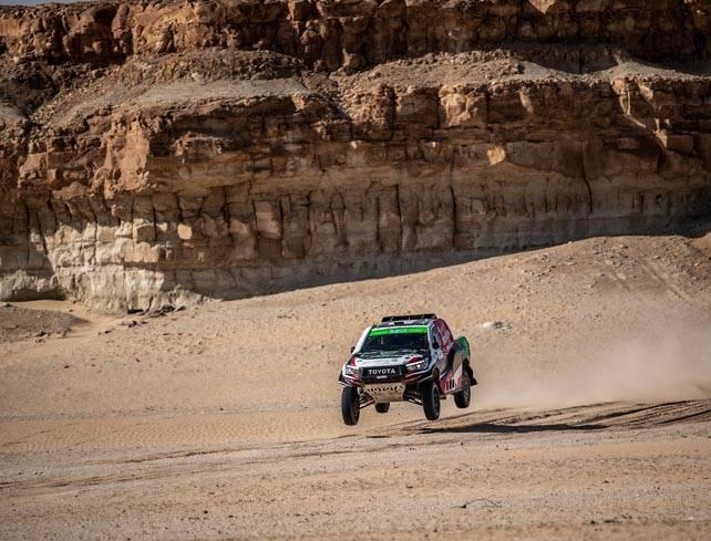 Yazeed Al-Rajhi flies to victory at the Sharqiya Baja.