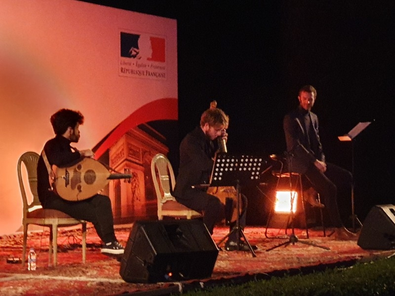 French poetry night in session at the residence of French consulate general. — SG photos by Abdulaziz Hammad.