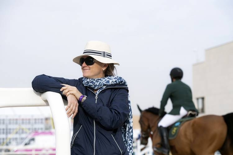 International Federation for Equestrian Sports (FEI) judge Valeria Nicoli at the breathtaking Duhami Farm.