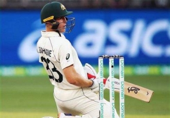 Marnus Labuschagne in fine fettle during the third day for Australia against New Zealand in the Perth Test on Saturday.