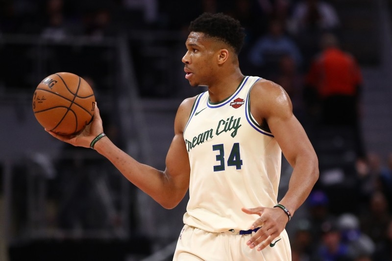 In this file photo Giannis Antetokounmpo No. 34 of the Milwaukee Bucks plays against the Detroit Pistons at Little Caesars Arena on Dec. 4, 2019 in Detroit, Michigan. — AFP