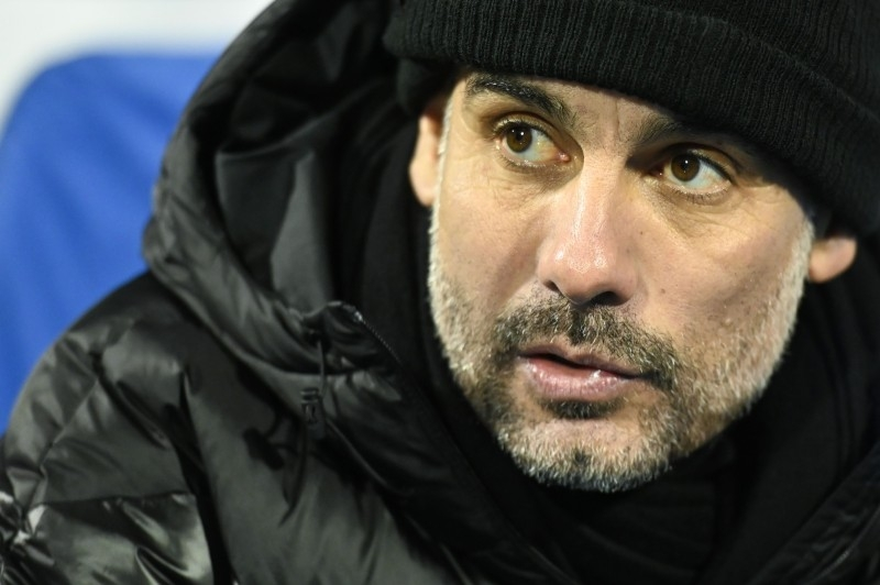 Manchester City's Spanish manager Pep Guardiola looks on during the UEFA Champions League Group C football match between GNK Dinamo Zagreb and Manchester City FC at the Maksimir Stadium in Zagreb on Dec.11, 2019.— AFP