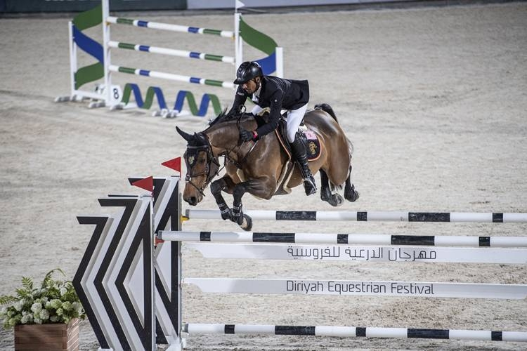 Emirati equestrian Abdullah Humaid Al Muhairi breaks speed record at the Diriyah Equestrian Festival.