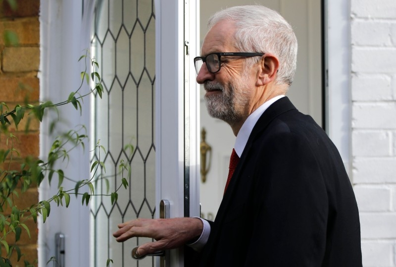 Opposition Labour party leader Jeremy Corbyn leaves his home in north London. The Labour party suffered its worst electoral performance since before World War II, forcing leader Jeremy Corbyn to announce plans for his departure. — AFP
