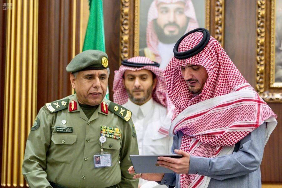 Interior Minister Prince Abdul Aziz Bin Saud Bin Naif launches 13 new electronic services at the Ministry of Interior's Absher portal in a ceremony held at his office in Riyadh on Tuesday. — SPA