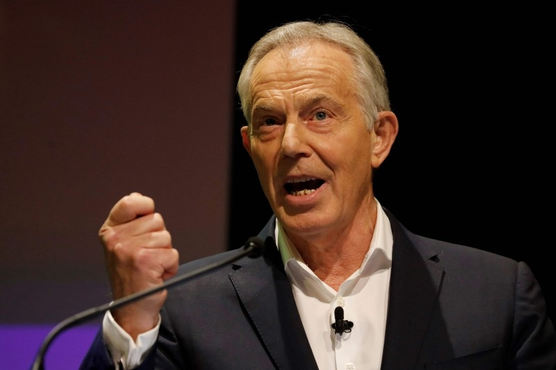 Britain's former Prime Minister Tony Blair speaks during the 'Stop The Brexit Landslide', organized by the Vote for a Final Say campaign and For our Future's Sake, at London's Mermaid Theatre in London, in this Dec. 6, 2019 file photo. — AFP