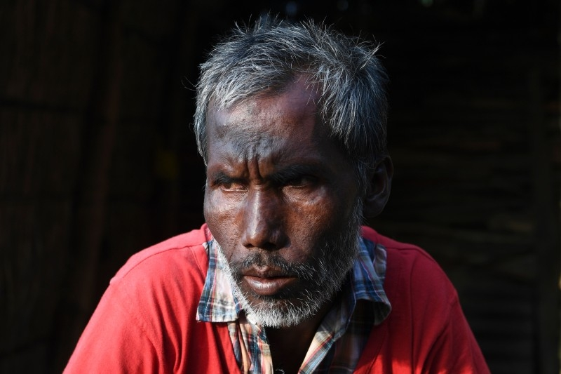 Habib-ur-Rehman, who was recently released from a detention center, speaks during an interview outside his home in Barpeta village in Assam in this Dec. 16, 2019 file photo. — AFP