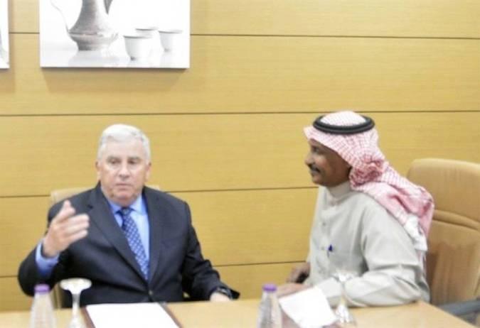 US Ambassador John Abizaid speaking to Okaz/Saudi Gazette