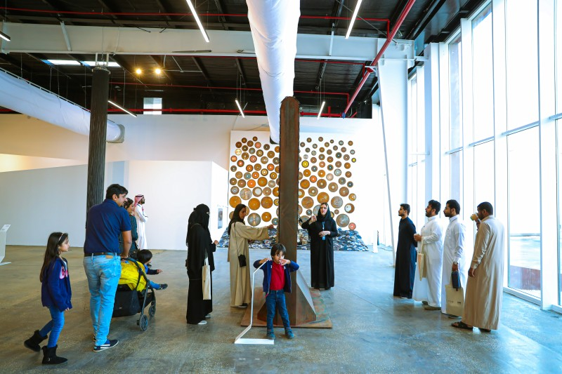 Crowds throng From Within art exhibition in Ad-Diriyah