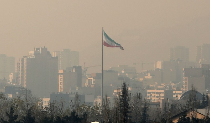 Air pollution covers the Iranian capital Tehran on Monday. — AFP