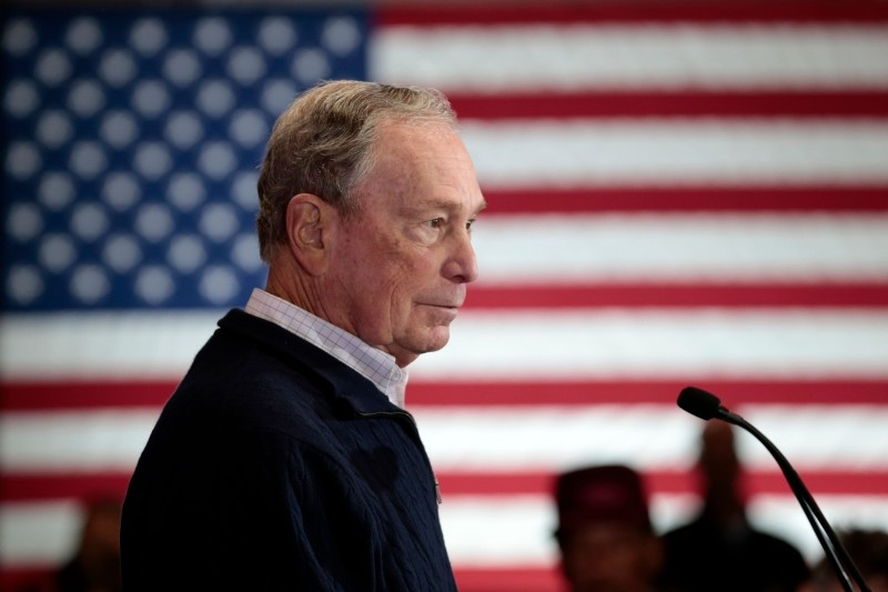 In this file photo taken on December 21, 2019, Democratic presidential hopeful and former New York Mayor Michael Bloomberg speaks during an event to open a campaign office at Eastern Market in Detroit, Michigan. -AFP