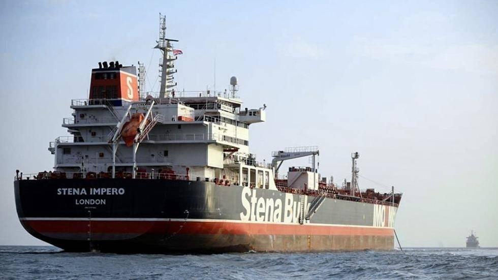 The tanker Stena Impero is anchored off the Iranian port city of Bandar Abbas in this July 22, 2019 file photo. — AFP