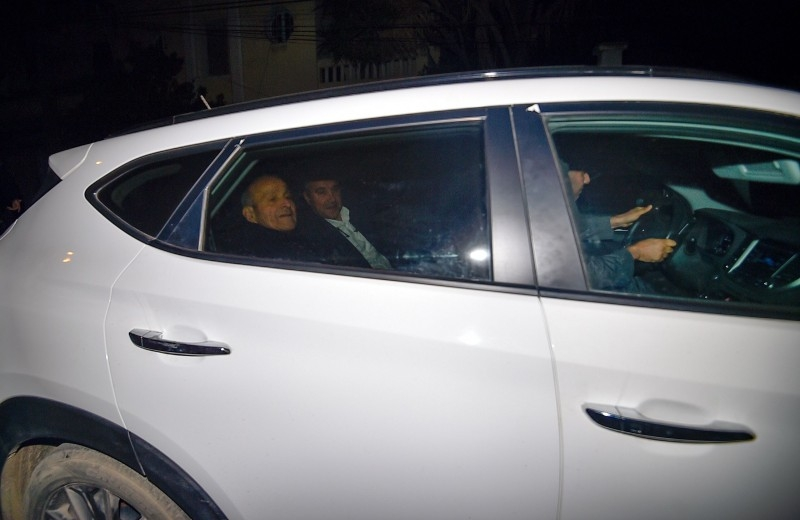 Algerian entrepreneur and CEO of CEVITAL industrial group Issad Rebrab is seen leaving the El-Harrach prison at 2:45am on Wednesday. -AFP