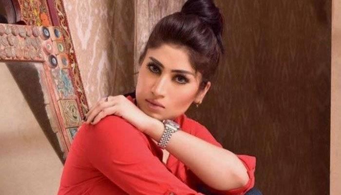 File photo shows Pakistani model Qandeel Baloach.
