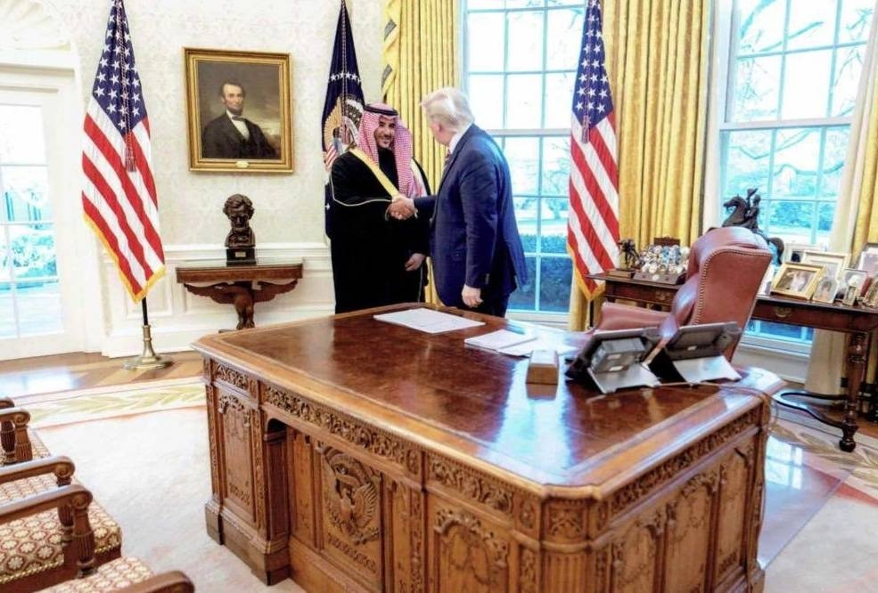 Deputy Defense Minister Prince Khalid Bin Salman met with US President Donald Trump in the White House on Monday. — courtesy Twitter
