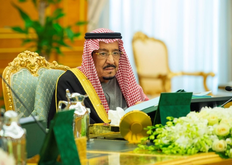Custodian of the Two Holy Mosques King Salman chaired the weekly session of the Cabinet at Al-Yamamah Palace in Riyadh on Tuesday.