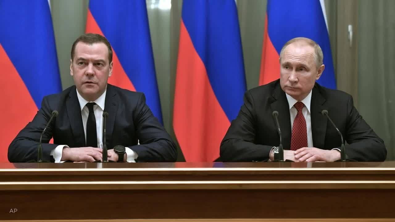Prime Minister Dmitry Medvedev, left, and Russian President Vladimir Putin prior to the sweeping changes on Wednesday.