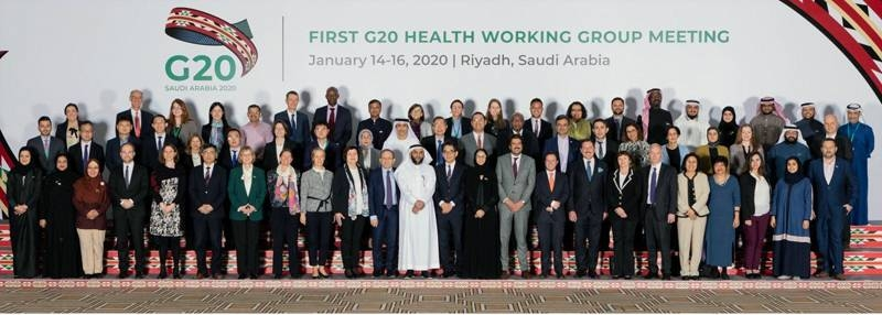The G20 Health Working Group at the end of the three-day meeting in Riyadh.