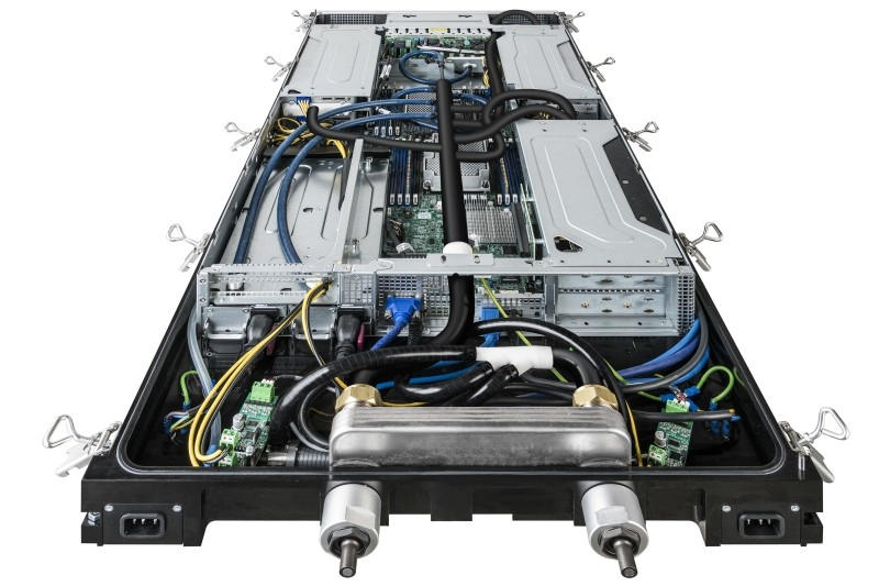 Industry's first integrated rack with immersed, liquid-cooled IT for data centers