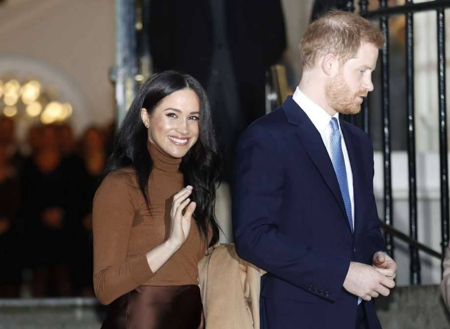 Britain's Prince and Meghan