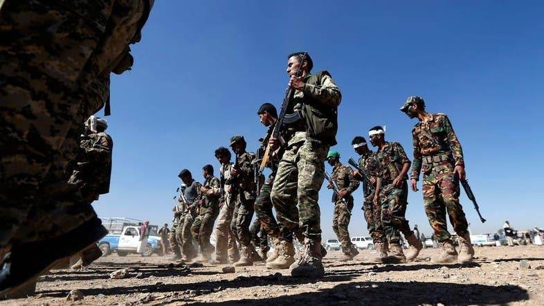 More than 80 Yemeni soldiers have been killed and scores injured in a missile and drone attack blamed on Houthi rebels in central Yemen. File photo shows soldiers in a drill mode. — courtesy Al Arabiya English