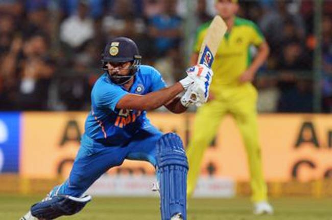 A sparkling century by Rohit Sharma helped India to a series-clinching seven-wicket win over Australia in the third One-Day International on Sunday.