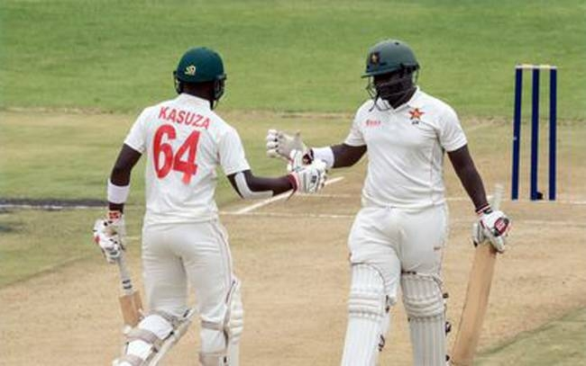 Kevin Kasuza struck a half-century on debut while opening partner Prince Masvaure recorded his maiden fifty as Zimbabwe finished the first day of the first Test against Sri Lanka on solid footing in Harare.