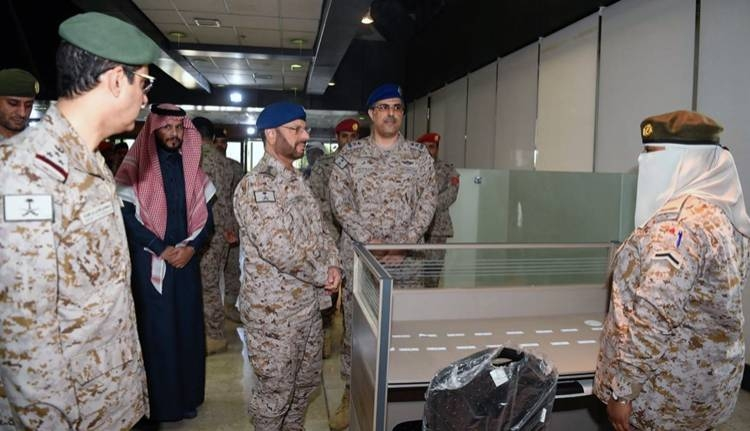 Chief of Staff Gen. Fayyad Al-Ruwaili tours the premises after opening the first military wing for women in the Armed Forces. — SPA