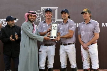 Prince Abdulaziz Bin Turki Bin Faisal, chairman of the General Sports Authority (GSA), crowned team Amaala winners of the first ever Desert Polo Championship in AlUla.