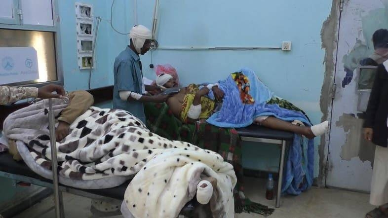 Injured soldiers lie in a hospital after the Iran-backed Houthi militia attack. — Courtesy photo