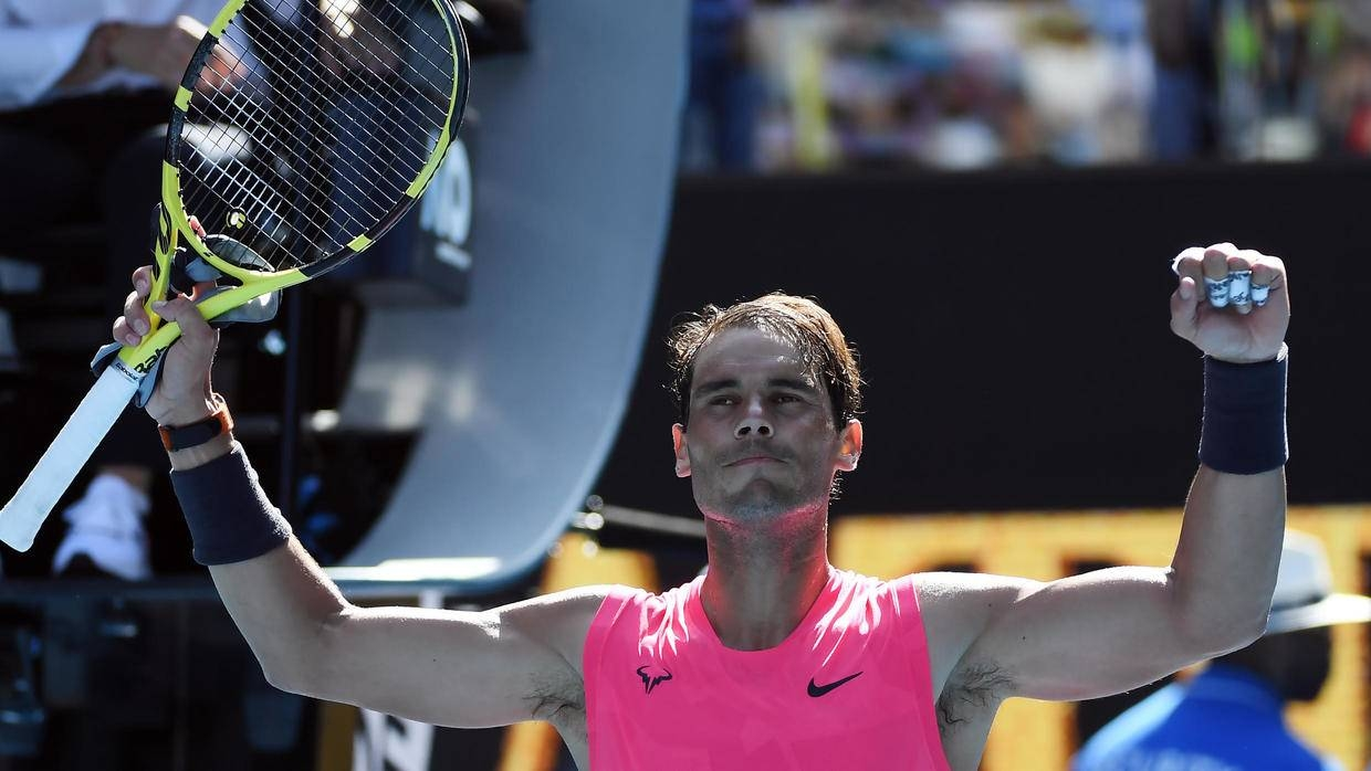 The Spaniard launched his campaign to equal the Swiss great's mark by dropping just five games in a 6-2, 6-3, 6-0 annihilation of Bolivian Hugo Dellien in the Australian Open first round. — AFP