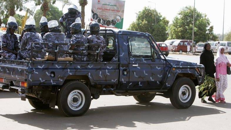 A Sudanese police vehicle patrols a street in Khartoum. — File photo