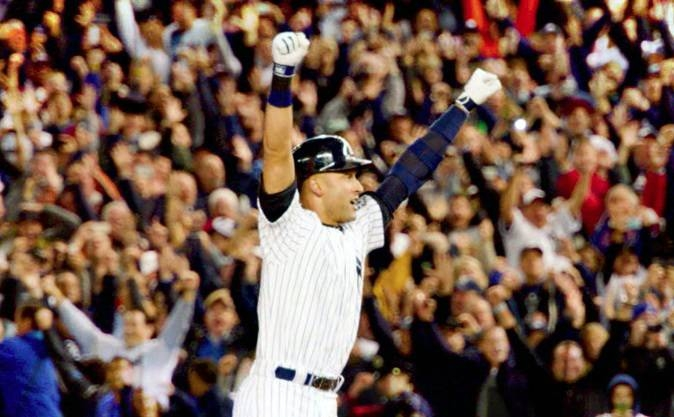 New York Yankees icon Derek Jeter was voted into baseball's Hall of Fame on Tuesday, coming within one vote of being a unanimous pick to enter the sport's pantheon of greats.