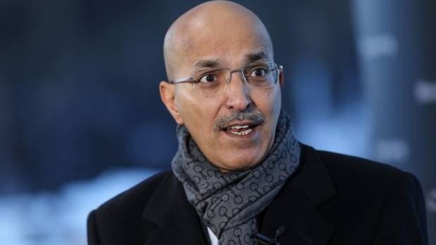 Finance Minister Mohammed Al-Jadaan in Davos. — Courtesy Bloomberg