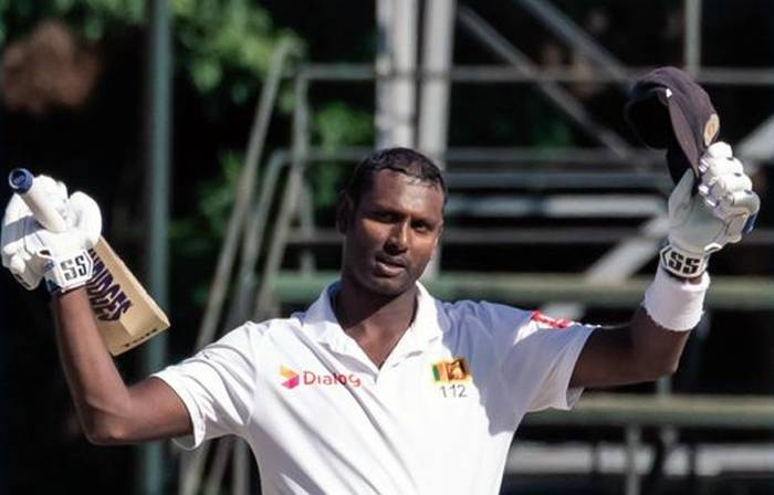 ngelo Mathews struck his highest Test score with an unbeaten 200 on Wednesday as Sri Lanka left Zimbabwe battling to save the series opener going into the final day at Harare.