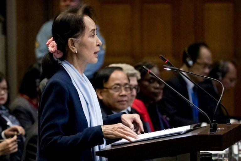 Myanmar's civilian leader Aung San Suu Kyi traveled to The Hague in December to personally defend her Buddhist-majority country against the allegations over the bloody 2017 crackdown against the Rohingya. — AFP