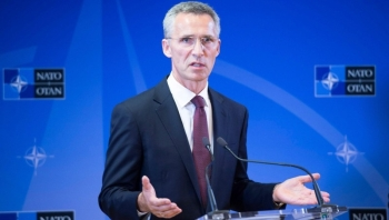 NATO chief Jens Stoltenberg, seen in this 2015 file photo, said that the alliance and key member Turkey have failed to find common ground over Russia's controversial delivery of a S-400 air defense system.