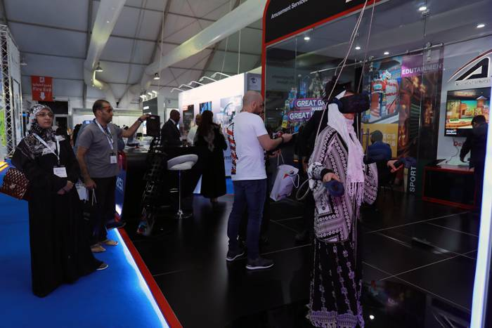 Enthusiasts visit the Saudi Entertainment and Amusement (SEA) expo in April 2019 in Jeddah.