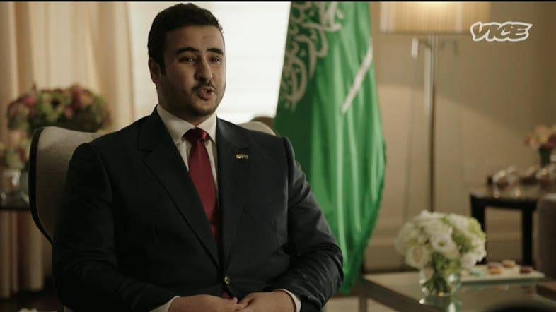 Saudi Deputy Minister of Defense Prince Khalid Bin Salman speaking in a wide-ranging interview with VICE media channel.