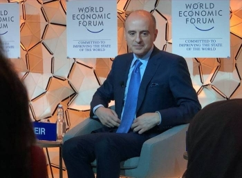 Minister of State for Foreign Affairs Adel Al-Jubeir speaksat a World Economic Forum panel about the situation in the Middle East in Davos. — Courtesy WEF