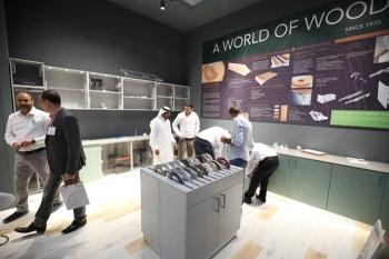 A pavilion showcasing wood in Index Saudi 2019.