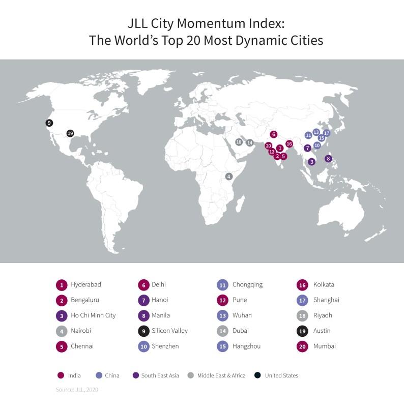 Riyadh, Dubai, Nairobi among top 20 'most dynamic cities'
