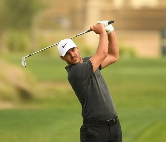 Brooks Koepka of the USA in action during the pro-am event prior to the Saudi International at the Royal Greens Golf & Country Club in King Abdullah Economic City.