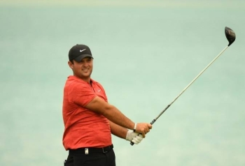 Patrick Reed of the USA tees off on the 17th tee during the pro-am event prior to the Saudi International  at the Royal Greens Golf & Country Club in King Abdullah Economic City, last year. — Courtesy photo