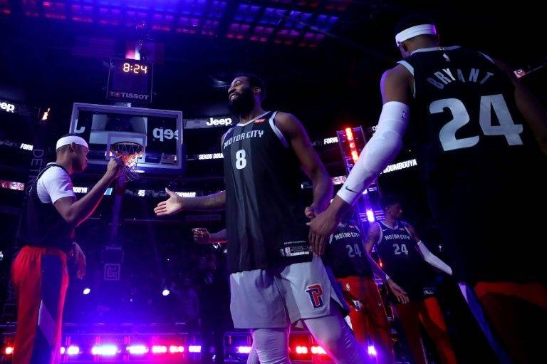 Detroit Pistons players wore jersey numbers 8 and 24 in NBA pre-game introductions as a tribute to the only jersey numbers worn by Los Angeles Lakers legend Kobe Bryant . — AFP