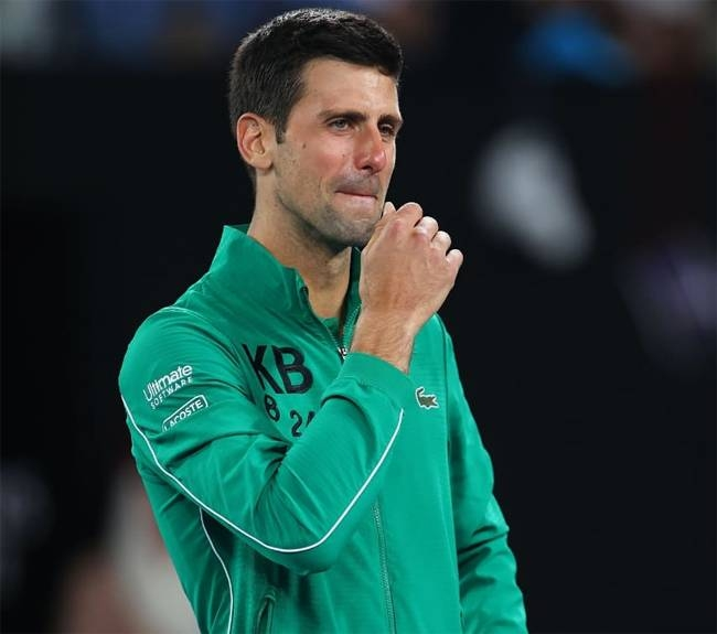 Serbian tennis great Novak Djokovic teared up on Tuesday as he paid tribute to late basketball star Kobe Bryant, describing him as a