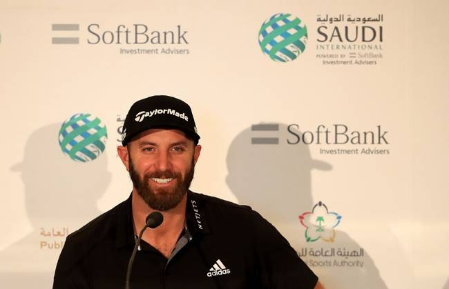 Dustin Johnson of the USA speaks during a press conference prior to the start of the Saudi International at Royal Greens Golf and Country Club on Tuesday in King Abdullah Economic City, Saudi Arabia. — Courtesy photo