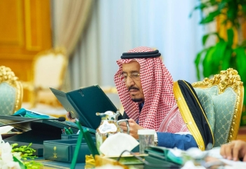 Custodian of the Two Holy Mosques King Salman chaired the weekly session of the Cabinet at Al-Yamamah Palace in Riyadh on Tuesday. — SPA