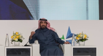 Minister of Labor and Social Development Ahmad Al-Rajhi addressing the opening session of the Saudi Accountants Forum. — SPA